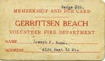 Image of Joseph Frank Kuhn Collection - Card, Membership