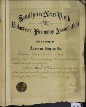 Image of Certificate, Membership - 2012.1068