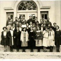 Image of Print, Photographic - B&W photo showing the Atascadero High School Freshman Class1923.