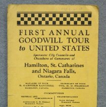 Image of Front of brochure for First Annual Goodwill Tour to United States