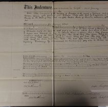 Image of Indenture - verso