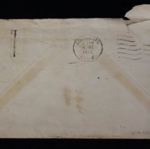 Image of Letter to Charles Shriner from father, envelope, back side