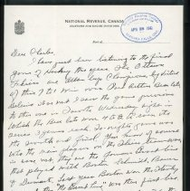 Image of Letter to Charles Shriner from father, page 1