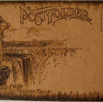 "Image of postcard, fold out, front, Indigenous man ""PostFolder"" L995.d.037.002 Image"