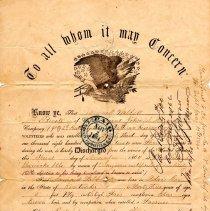Image of U.S. Army Discharge Certificate of Samuell Walkitt
