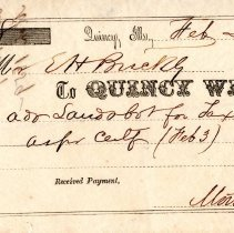 Image of Receipt, Quincy Whig