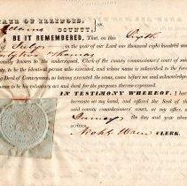 Image of Sheriff's Tax Sale Deed to Washington Irving