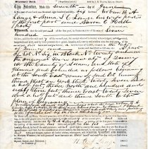 Image of Deed / Urban B. A. Lange and Anna L.C. Lange to Aaron C. Hall
