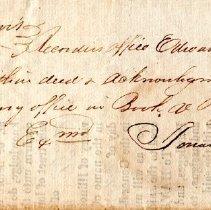 Image of Land Grant Patent to David Paul; Deed of David Paul to Benjamin Shurtleff