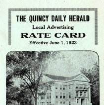 Image of Card, Newspaper Rates