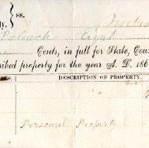Image of Tax Receipt, Henry Poleach