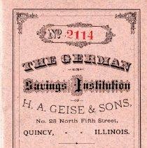 Image of D1251 - Bankbook