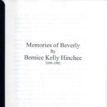 Image of 2012.63.1 - Memoir