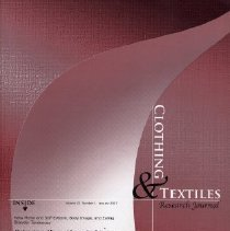 Image of Clothing & Textiles Research Journal, January 2007, Vol. 25 No. 1