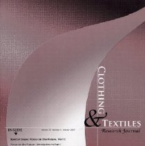 Image of Clothing & Textiles Research Journal, October 2007, Vol. 25 No. 4