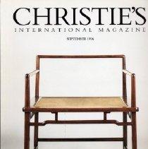 Image of Christie's International Magazine, September 1996