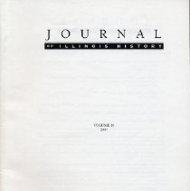 Image of Journal of Illinois History, 2007, Vol. 10