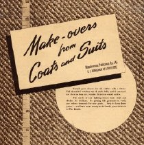 Image of Make-overs from Coats and Suits, 1930-1940