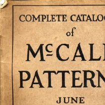 Image of Complete Catalogue of McCall Patterns, June 1916