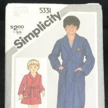 Image of Child's and boys' jiffy front-wrap robe in two lengths