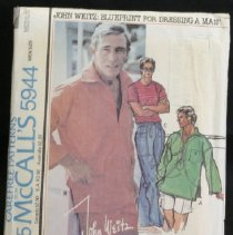 Image of Men's pullover shirts and drawstring pants or clamdiggers or shorts