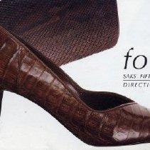 Image of Saks Fifth Avenue, 1986, Shoe Catalog