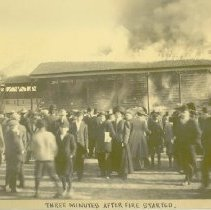 Image of GRANDSTAND FIRE AT BASEBALL GAME - 1962.109.02