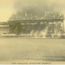 Image of GRANDSTAND FIRE AT BASEBALL GAME - 1962.109.03