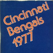 Image of A media guide for the Cincinnati Bengals for the 1977 season
