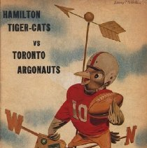 Image of game program for Toronto Argonauts at Hamilton Tiger-Cats