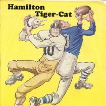 Image of Game program for Hamilton Tiger-Cats. Intra-Squad Game.