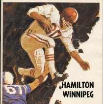 Image of Game program for Winnipeg Blue Bombers at Hamilton Tiger-Cats.