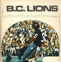 Image of Game program for B.C. Lions at Hamilton Tiger-Cats. CFL Illustrated, Vol. 2, no. 1.
