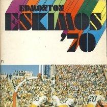 Image of Game program for Edmonton Eskimos at Hamilton Tiger-Cats. CFL Illustrated, Vol. 1, no. 4.