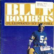 Image of Game program for B.C. Lions at Winnipeg Blue Bombers. CFL Illustrated, Vol. XIII, no. 5.