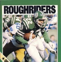 Image of Game program for Saskatchewan Roughriders at Toronto Argonauts. CFL Illustrated, Vol. XII, no. 5.