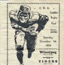 Image of Grey Cup game program from 1935.