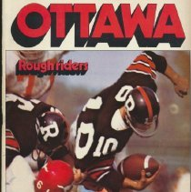 Image of Game program from a 1971 game between the Toronto Argonauts and the Ottawa Rough Riders.