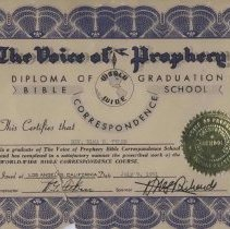 Image of Diploma for Rev. Tyler/ Bible