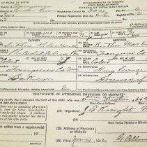 Image of ARCH.06926 - Vital Records, Birth