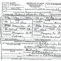 Image of ARCH.07345 - Vital Records, Birth