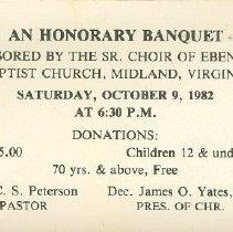 Image of Ebenezer Baptist Banquet