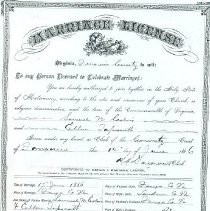 Image of ARCH.09345 - Vital Records, Marriage