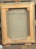 Image of Back of canvas marked with artists' name