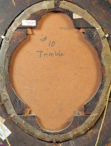 """Image of Marking on back of painting """"#10 Trimble"""""""