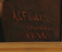 "Image of Signature ""A.C. Fauley Columbus 1896"""