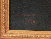 Image of 1870 signature of Caroline Ransom (Image courtesy of Rob Manko.)