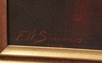"Image of Signature ""F.W. Simmons--1909"""