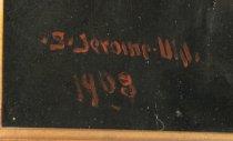 """Image of Signature """"S. Jerome Uhl 1908"""""""