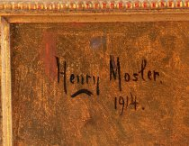 "Image of Signature ""Henry Mosler. 1914."""